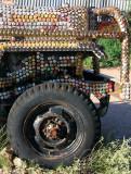 7648- bottle cap encrusted jeep