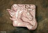 8959- custom glazed ceramic bas relief