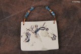 9874- Shadow Horses cameo ornament by Sarah Minkiewicz-Breunig
