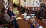 Lewis County members meeting with Representative DeBolt