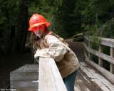 Alyssa on the bridge