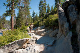 On the Way up to Yosemite Point