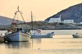 Fishing boats at Faros beach.