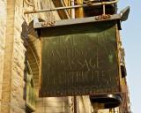 Old business sign - Oscarsparken.