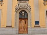 Door to the old Riksbankshus (The Central Bank of Sweden)