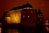 The old 16th century Wasa castle in night light.