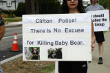 Protest Clifton NJ P.D. Bear Cub Killing