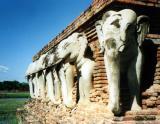 Elephant Temple, Sukothai, Thailand