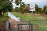 Water in flood way