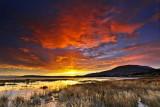 argentine lake at sunrise