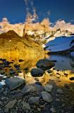 Laguna de los tres at sunrise