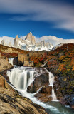 Fitz roy and waterfall