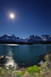 Torres del Paine at night