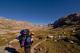 On the trail to Titcomb Basin