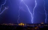 lightning over Budapest