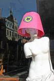 Venus de Milo Trying Out a New Easter Bonnet - Arturo's Italian Restaurant Window