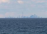 Toronto, 32 miles away across Lake Ontario (Fuji 300EXR)