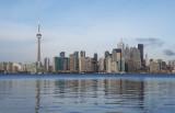 Toronto skyline, 1.1 miles away across the harbour (Nikon D40X)