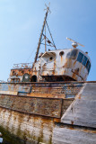 Cimetière de bateaux à Camaret