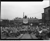 Band waiting in shorts at the 100000th Bren gun ceremony John Inglis Co. Ltd.jpg