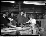 Lord Halifax watching female war workers at John Inglis Co. Ltd.jpg