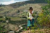 Shy Shepherdess in Tarabuco