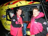 Anestesioverlege Guttorm Brattebø og Skipper Frank Haugland på LN 001