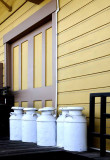 Milk Cans at the Depot