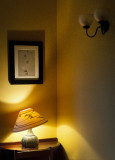 Sitting Room Desk and Lamp