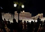 Sidewalk Crowd at the Bellagio