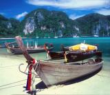 Waiting Longtail Boats