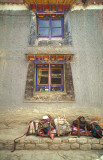 Traditional windows Tibet