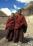 Monks near Tsurpo Monastery