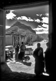 Monks in a Doorway