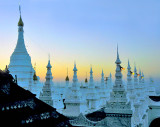 Stupas in the early morning