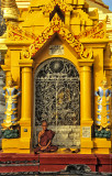Monk at Shwedagon