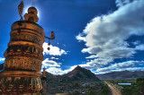 Looking out on Gyantze
