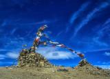 Prayer flags in a Tibetan Sky