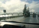 trucks and bridge
