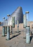 45 glass pillars