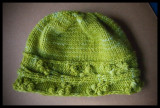 0021. 'Cayuga Hat' - lettuce colorway