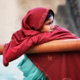 Young Lady in Red Veil | Varanasi, India
