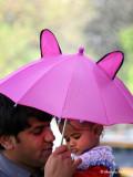 Little Pink Umbrella - Delhi, India