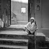Sitting on Stairs - Jaipur, India