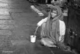 Sat by the Door (B&W ver.) | Agra, India