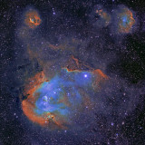 Centaur's Cave full frame (1500X 1500) aka The Running Chicken Nebula