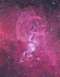 Two Red Nebulae in Carina