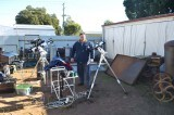Setup in a junkyard at Nyngan central NSW