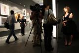 ABC-TV news team interviewing  featured photographer Lauren Greenfield