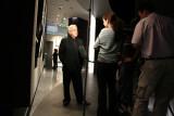 ABC-TV news team interviewing featured photographer Melvin Sokolsky